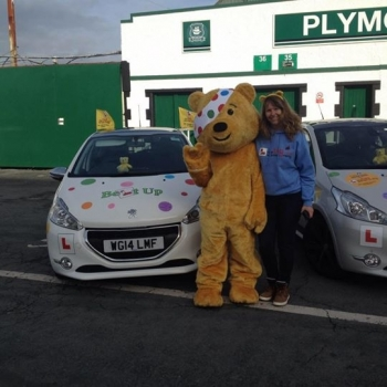 Today the Association of Professional Instructors and Belt Up Driving School got together to support The Big Learner Relay for BBC Children in Need Pudsey came too :