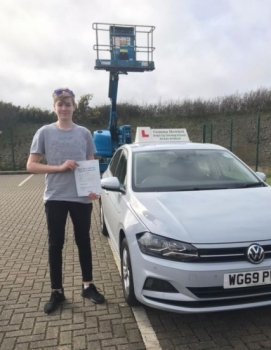 Massive Congratulations to Harry Green on passing your driving test today FIRST TIME. My 1st test of the year and in the new car.  Stay safe.