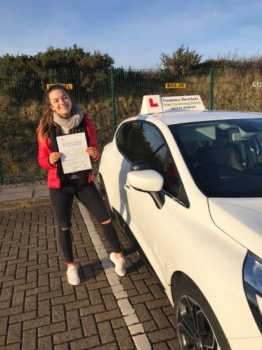 So proud of Jasmine Skinner for passing her driving test today in Plymouth.  Happy car shopping and stay safe