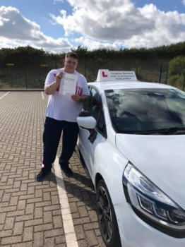 Kris passed with Gemma from Belt Up Driving School.  Kris says 'Thx Gemma Hewlett Adi couldn't of done it without you xx'