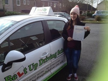 Well Done Sandra on passing first time on the 29th January 2014 :