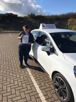 Gemma is so proud of Sasha Reeve for passing her driving test today first time 🎉 you've come such a long way from the first lesson we met it's amazing !! Well done 😁 stay safe and enjoy your car shopping 🚘